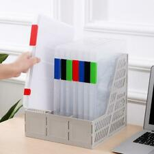 A4 Plastic Portable Case Document File Folder Transparent Paper Organizer Box