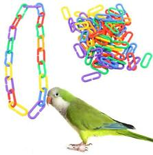 Plastic DIY C-clips Hooks Chain C-links Sugar Glider Rat Parrot Bird Toy 100Pcs