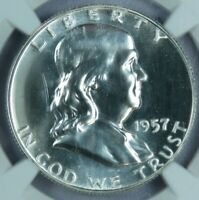 1957 Franklin Half Dollar PROOF NGC PR68 AT0315/CN