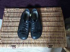 CAMPER BLACK LEATHER FLAT SHOES SZE UK 6 (EU 39)