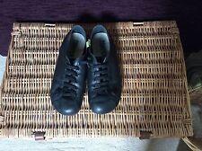 CAMPER Cuir Noir Plates Chaussures Sze UK 6 (EU 39)