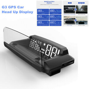 G3 GPS Car Head Up Display Speed Meter HUD with Reflection Screen Dual-Mode Chip