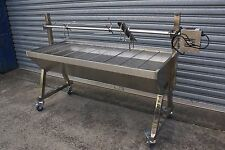 NEW LARGE STAINLESS STEEL 80KG CHARCOAL BBQ BARBEQUE SPIT ROTISSERIE
