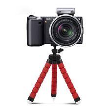 Rojo Cámara Fujifilm DSLR SLR trípode flexible Gorila Pulpo Soporte Soporte 1/4-20