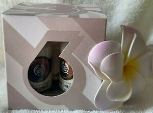 The Body Shop***COCONUT***Shower Boxed Set with Bath Lily~~~Travel Sizes~~~NEW