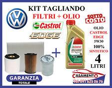 KIT TAGLIANDO OLIO MOTORE CASTROL EDGE FST 5W30 4LT + FILTRI VW POLO V 1.6 TDI