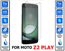 2x Genuine 100% TEMPERED GLASS HD Film Screen Protector For Moto Z2 Play