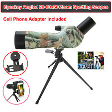 Waterproof Angled 20-60x60 Zoom Fully Monocular Telescopes Spotting Scope Tripod