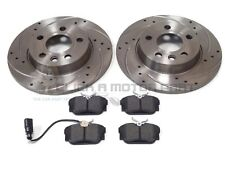 VW TRANSPORTER T4 2.5 TDi  REAR 2 DRILLED GROOVED BRAKE DISCS & MINTEX PADS SET