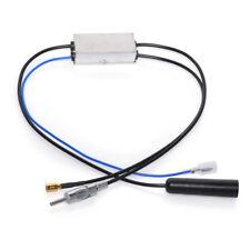 DAB+ Antenne AM/FM DIN Buchse auf Male mit SMB Adapter Signal Amplifier Radio