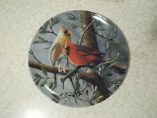 "Edwin Knowles ""The Cardinal"" 8 1/2"" Diameter Plate With Box And Coa"