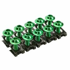10X Body Bolt Kit M6 Moto Fairing Fastener Screw Panel Bolts Speed Clips Green