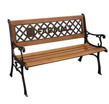 Farmall Cast Iron and Wood Garden Bench
