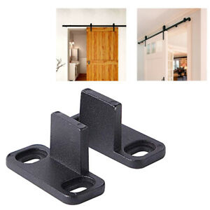 2pcs Adjustable Hardware Barn Door Guide Floor Parts POM Anti Swinging