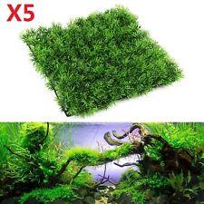 5X Artificial Water Aquatic Green Grass Fish Tank Plant Lawn Aquarium Landscape