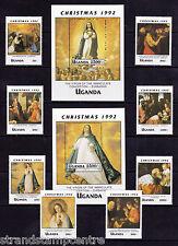 Uganda - 1992 Christmas - U/M - SG 1171-8 + MS1179 (2)