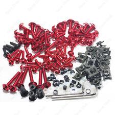 CNC Red Fairing bolts Clips Screws For Kawasaki NINJA 250R 300R ZX6R 10R ZX10R