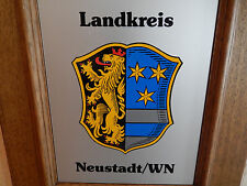 Holz Wandschild Bild Wappen Neustadt / Waldnaab goldener Löwe 3 goldene Sterne