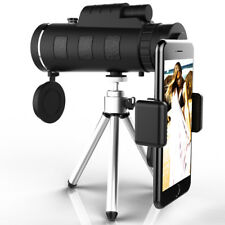 12X50 High Power BAK-4 Prism Monocular Telescope w Tripods and Smartphone Holder
