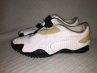 Ladies sz8.5 Puma Mostro Perf Sneakers Ext Black White 341953 03 Ortholite Shoes