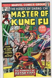 MASTER OF KUNG FU  #29 - 8.0, OW-W - Shang-Chi