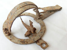 Extremely Rare small Old Antique Wrought Hand Forged Iron Trap 18th Century