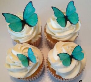 Turquoise Edible Butterflies
