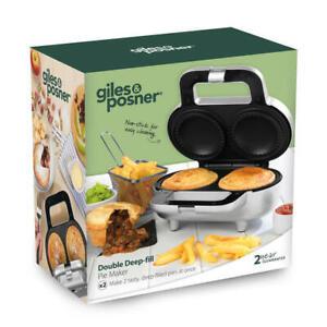 Giles & Posner Non-Stick Deep Fill Pie Maker Easy Clean 900 W Silver