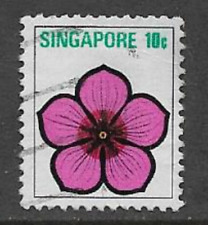 SINGAPORE POSTAL ISSUE - 1973 - USED DEFINITIVE STAMP - FLOWERS & FRUITS