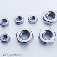 Sechskantmuttern DIN 934 Edelstahl V2A VA  Muttern M1,6 M2,5 M3 M4 M5 M6 bis M16