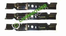 """SET OF 3  OEM 581101101 Husqvarna POULAN PRO  Quick Release Bagger Blades 54"""""""