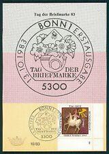 BRD MK 1983 1192 FN 2 FORMNUMMER!! PFERD HORSE MAXIMUMKARTE!! RARE!! h1361