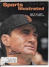 Alvin Dark Autograph / Signed Sports Illustrated 7-6-64 San Francisco Giants