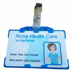 Health Care Assistant Photo Identity Card | Double Side Holder | Croc Clip