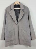 MINKPINK | Womens Grey cosy coat / Jacket - Oversized [ Size S or AU 10 / US 6 ]
