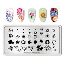 BORN PRETTY Nail Stamping Plate Template  Stencil Plate Overprint-L001