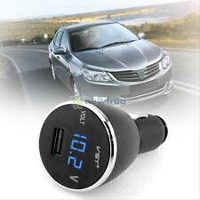 12V/24V LED Car Volt Meter Voltmeter Cigarette Lighter USB Charger for Cellphone