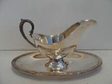 SILVERPLATE GRAVY BOAT WITH PLATE ATTACHED