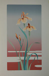"JUNG PARK SERIGRAPH - ""IRIS""    FOR SALE BY THE PRINTER    BRAND NEW CONDITION"