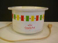 RIVAL SLOW COOKER MINI CROCK POT party crock-ette APPETIZER multi color peppers