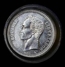 Venezuela 1 Bolivar 1960 1965 AU+-UNC/BU silver Y#37a 40 Pieces Full Roll Lot.