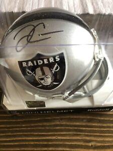 Derek Carr Signed Mini Helmet (COA)