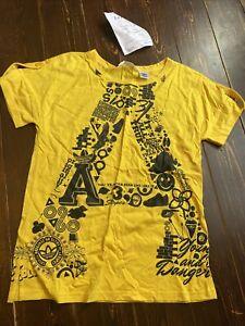 Adidas Originals LC ST Funky Graphic Ladies T-shirt UK 12 EU 38 Superstar Yellow