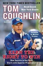 NEW EARN THE RIGHT TO WIN by TOM COUGHLIN New York Giants Softcover Paperback