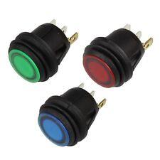 KFZ Wipp-Schalter rund LED BELEUCHTET Ein-Aus 12V spritzwassergeschützt 12 Volt