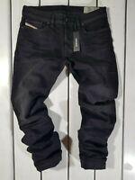 New Diesel Men's Jeans Safado-R R06C7 Regular Slim Straight Black RRP $169