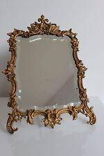 Superbe MIROIR De Table Biseauté BRONZE XIXe Décor Rocaille Style Louis XV