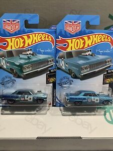 Hot Wheels 2020 Super Treasure Hunt 64 Chevy Chevelle SS And Mainline X2 Cars !!