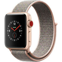 Apple Watch Series 3 38MM Aluminum Case Smart Watch with Loop - Gold/Pink