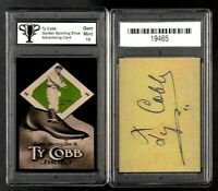 Ty Cobb Golden Sporting Shoes Ad Promo Card Graded 10 GEM MINT